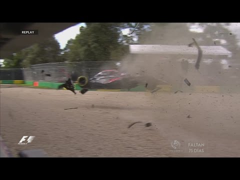 Accidente Fernando Alonso Melbourne 2016